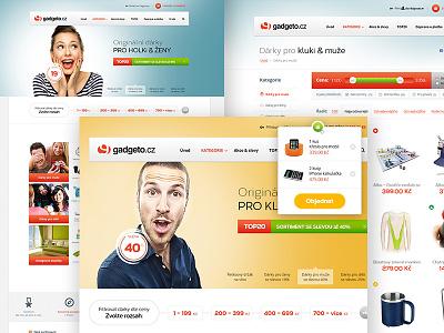 Gadgeto.cz E-shop estore white clean store gifts gift gadgets ux ui eshop ecommerce
