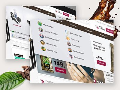 Delicado - Coffee shop white web menu ecommerce drink webdesign eshop shop cafe coffee