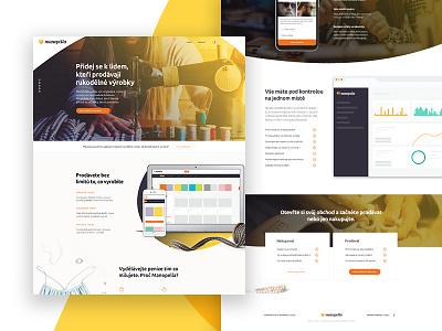 Manopella - Landing page design landing page ui uidesign user interface web webdesign eshop ecommerce website