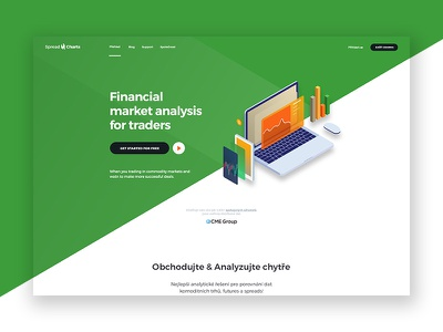 SpreadCharts website webdesign web user uidesign ui page landing interface eshop ecommerce design