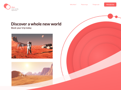 Daily UI #003 — Landing Page above the fold dailyui 002 landing page