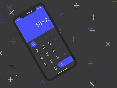 Daily UI #004 — Calculator math blue calculator 004 dailyui