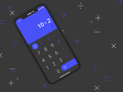 Daily UI #004 — Calculator math blue calculator 004 dailyui