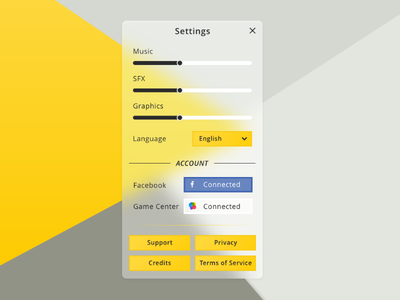 Daily UI #007 — Settings dailyui 007 settings game ui game settings