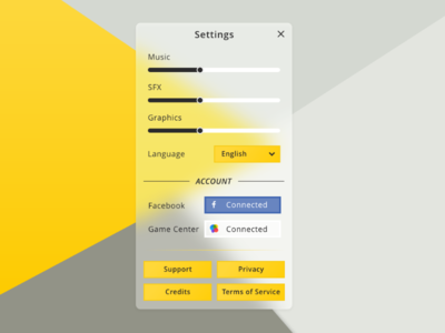 Daily UI #007 — Settings dailyui 007 settings game ui game settings