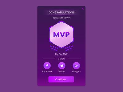 Daily UI #010 — Social Share mvp game ui game sci-fi purple share share button social share dailyui 010