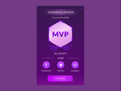 Daily UI #010 — Social Share mvp game ui game sci-fi purple share share button social share dailyui 010