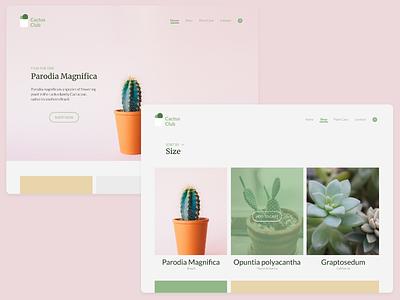 Daily UI #012 — E-Commerce Shop 012 dailyui web online shop store green cactus e-commerce shop