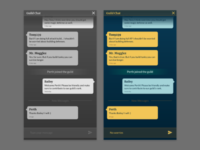 Daily UI #013 — Direct Messaging dailyui 013 game chat ui chat game ui direct messaging