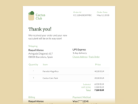Daily UI #017 — Email Receipt