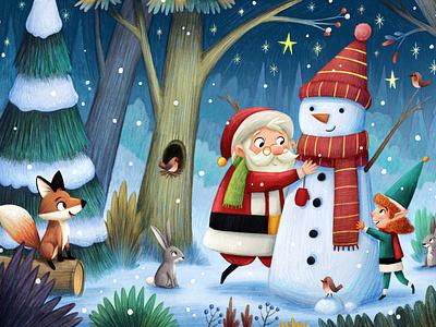 Santa Postcard kid lit art kid lit childrens books childrens illustration christmas illustration christmas kidsbooks illustration kidlit kidlitart