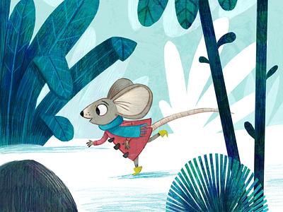 Run little mouse. kidlitart drawing illustrator character design picture book painting artist art kid lit kidlit illustration childrens illustration childrens books