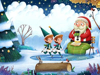 Seeing Double elves santa christmas kidlitart kidslit kids books illustrator books book childrens kids kid children picture book art kidlit kid lit illustration childrens illustration childrens books