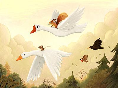 To the skies. kidslit birds animals books book kids childrens picture book art kidlit kid lit illustration childrens illustration childrens books