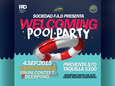 flyer / pool party poster party pool flyer