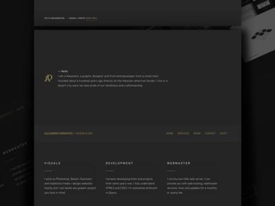Personal Website v0.15525 golden dark website portfolio personal