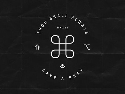 Save & Pray mac osx command type design catholic