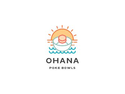 Ohana Poke logo fish bowl poke