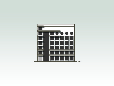 Izvestia Building Icon illustrator icon