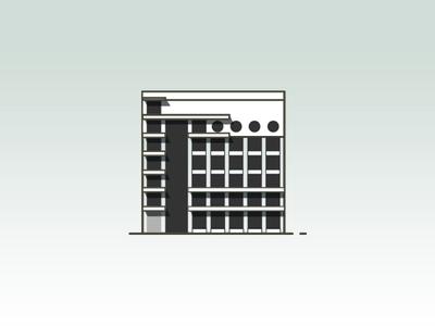 Izvestia Building Icon illustrator icon