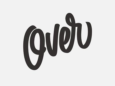 Over hand lettering logo lettering