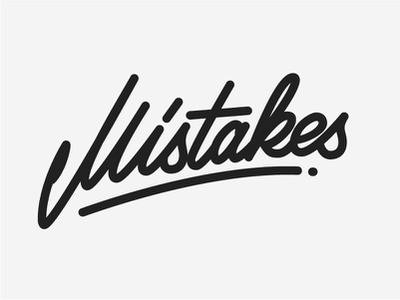 Mistakes black  white stroke logo lettering