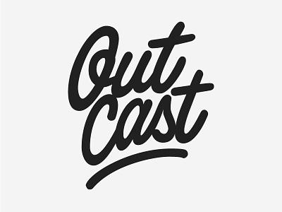 Logo Outcast logo design stroke hand lettering lettering