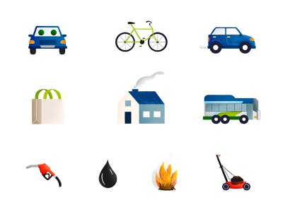 Air Quality Awareness Icons icons environment public service awareness air quality