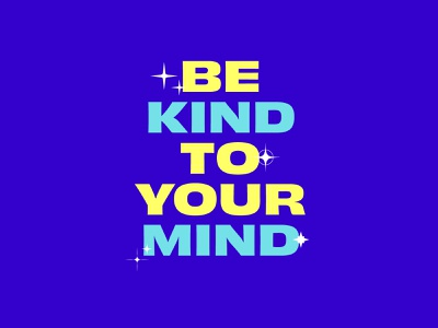the center for the female athlete - be kind to your mind typography inspirational mental health sports female athlete