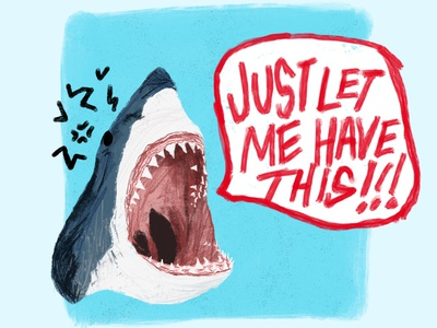 JUST LET ME HAVE THIS great white feelings emo shark week shark