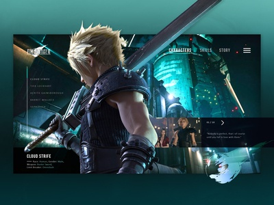 Final Fantasy VII - Cloud Concept Page