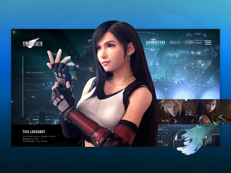 Tifa Lockhart Ffvii Concept Character Page By Beyon