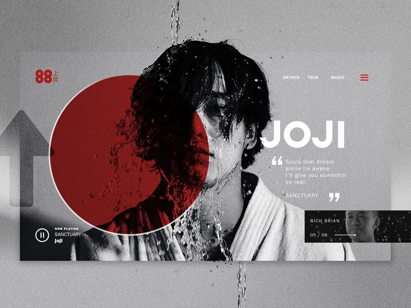 Joji 88rising - Concept Page website concept music website music 88 branding concept concept page page design ui design uidesign website design website 88rising joji