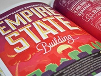 Empire State Building sustainable process Infographics