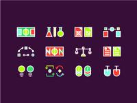 Set Icons Grupo Consultores infographic