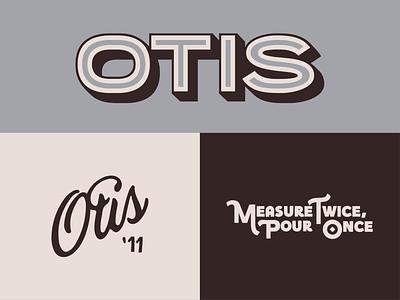 Otis Marks signature otis colorado coffee brown lettering handmade type handmade typography type identity tagline brand and identity brand marks mark