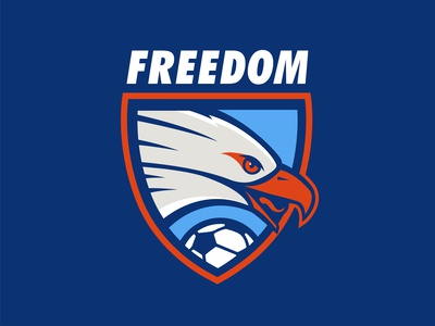 Freedom Eagles soccer logo