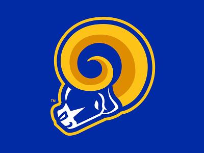 LA Rams logo concept sports logo logodesign logo sports design sports logos sports branding
