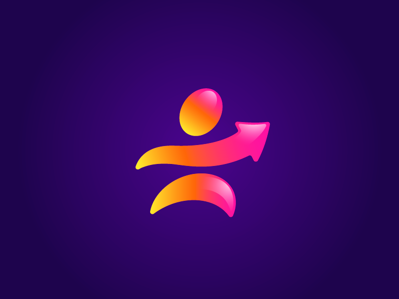 Impulse colour energy sport brand orange yellow symbol identity vector branding logo impulse