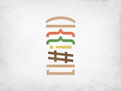 Tech BBQ Meetup burger logo minimalism gray texture