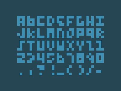 12px font typeface pixels minimalism