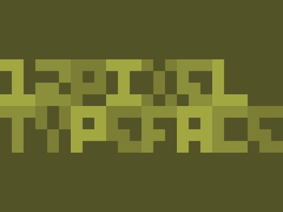 12px in Action typography font pixels minimalism square