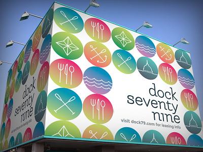 Dock79 Concept #2 typography billboard icon campaign logo design branding