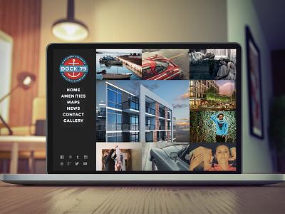 Dock79 Concept #3 campaign web logo design branding