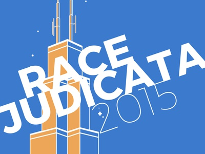 Race Judicata Tower typography tower building chicago illustration