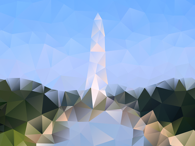 DC Low-poly dc washington vector polygon low poly