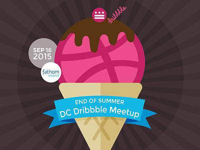 DC Dribbble meetup washington dc end of summer dribbble meetup dribbblescooop ice-cream meetup illustration design