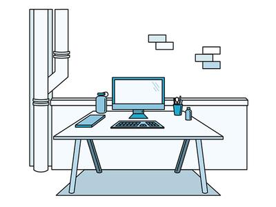 Fathom Desk illustration office desk