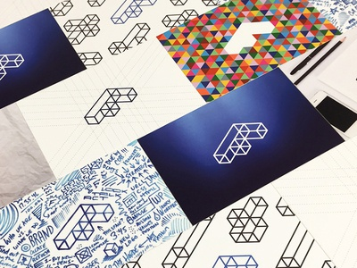Fathom Business Cards illustration graphic design moo cards design business cards