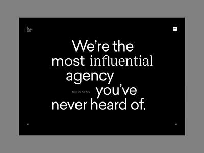Type layouts from a recent microsite steve jobs microsite website ui minimal art flat clean branding art brutal web type minimal brand